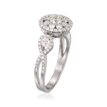 Roberto Coin 1.08 Carat Total Weight Diamond Ring in 18-Karat White Gold. Size 6.5, , default
