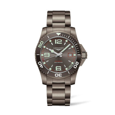 Longines Hydroconquest Men's 41mm USA Edition Stainless Steel and Gray PVD Watch