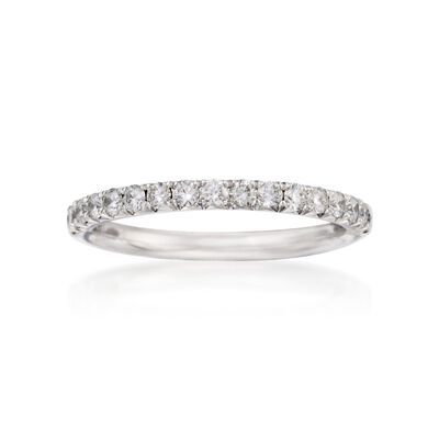 Henri Daussi .45 ct. t.w. Diamond Wedding Ring in 18kt White Gold, , default
