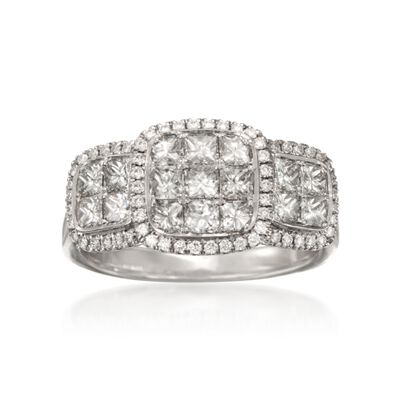 Simon G. 1.36 ct. t.w. Diamond Ring in 18kt White Gold, , default