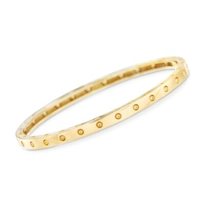"Roberto Coin ""Symphony"" Pois Moi 18kt Yellow Gold Bangle Bracelet, , default"