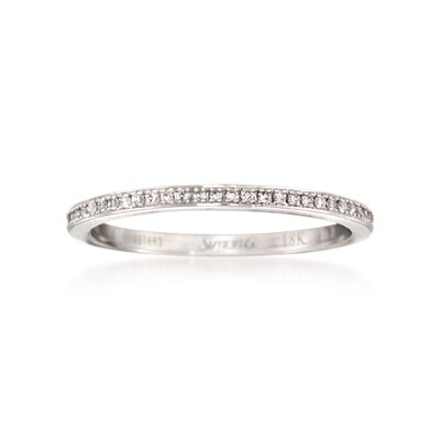 Simon G. .25 ct. t.w. Diamond Eternity Wedding Ring in 18kt White Gold