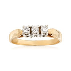 C. 1990 Vintage .25 ct. t.w. Diamond Ring in 14kt Yellow Gold, , default