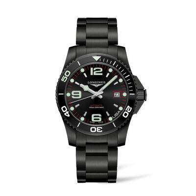Longines Hydroconquest Men's 41mm USA Edition Stainless Steel and Black PVD Watch