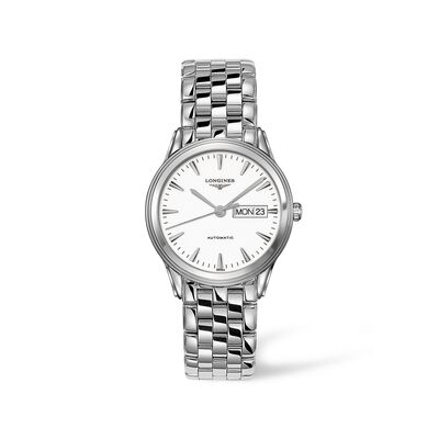 Longines Flagship Men's 38.5mm Automatic Stainless Steel Watch - White Dial