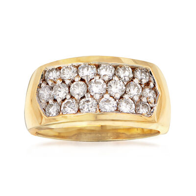 C. 1980 Vintage 1.25 ct. t.w. Pave Diamond Ring in 14kt Yellow Gold