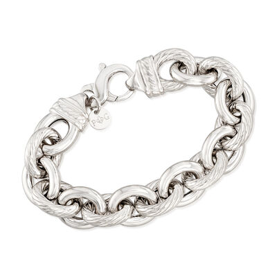 "Phillip Gavriel ""Italian Cable"" Sterling Silver Cable-Link Bracelet"