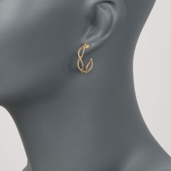 "Roberto Coin ""Barocco"" 18kt Yellow Gold Braided Hoop Earrings"