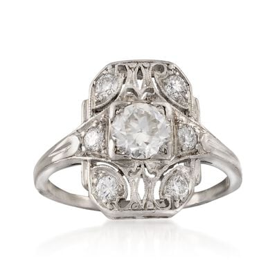 C. 1990 Vintage .80 ct. t.w. Diamond Ring in Platinum, , default