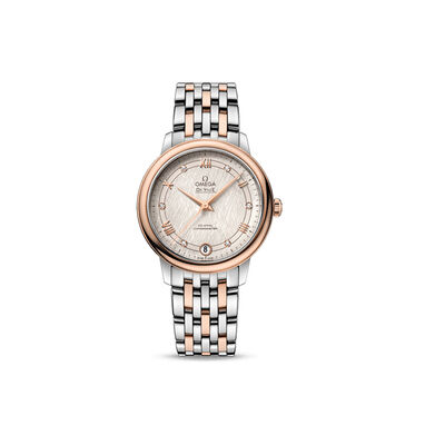 Omega De Ville Prestige Women's 33mm Automatic Stainless Steel and 18kt Rose Gold Watch