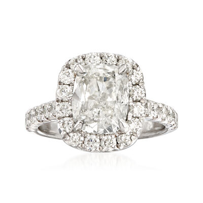 Majestic Collection 3.93 ct. t.w. Diamond Halo Engagement Ring in Platinum