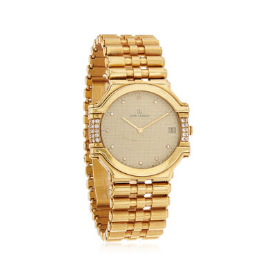 C. 1990 Vintage Jean Lassale Women's 30mm .38 ct. t.w. Diamond Quartz Watch in 18kt Yellow Gold , , default