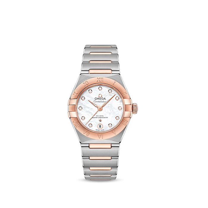 Omega Constellation Women's 29mm Automatic Stainless Steel and 18kt Rose Gold Watch
