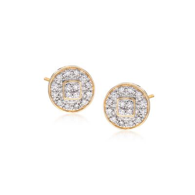 "ALOR ""Classique"" .27 ct. t.w. Diamond Stud Earrings in 18kt Yellow Gold, , default"