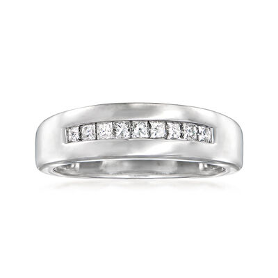 C. 1980 Vintage .65 ct. t.w. Channel-Set Diamond Ring in 14kt White Gold