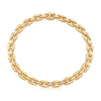 C. 1989 Vintage Cartier .75 ct. t.w. Diamond Collar Necklace in 18kt Yellow Gold, , default