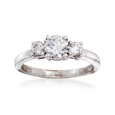 C. 2000 Vintage .85 ct. t.w. Diamond Ring in 14kt White Gold, , default