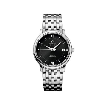 Omega De Ville Prestige Men's 36.8mm Stainless Steel Watch with Black Dial