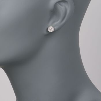 ALOR Flamme Blanche .26 Carat Total Weight Diamond Studs in 18-Karat White Gold, , default