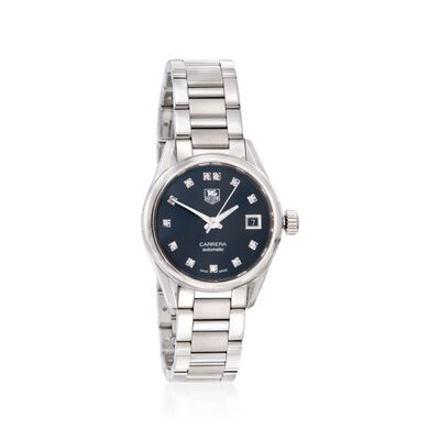 TAG Heuer Carrera Women's 28mm Stainless Steel Watch with .10 ct. t.w. Diamonds