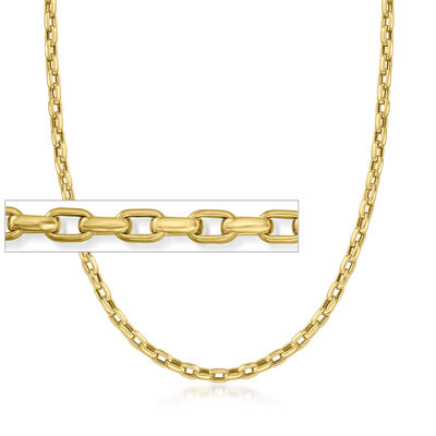 Roberto Coin 18kt Yellow Gold Square-Link Chain Necklace