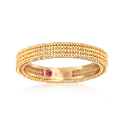 """Roberto Coin """"Symphony"""" Barocco Ring in 18kt Yellow Gold, , default"""