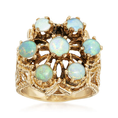 C.1970 Vintage Opal Ring in 14kt Yellow Gold, , default
