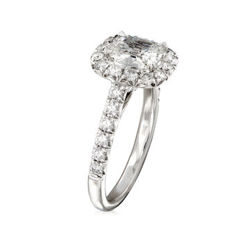 Henri Daussi 2.12 ct. t.w. Certified Diamond Engagement Ring in 18kt White Gold
