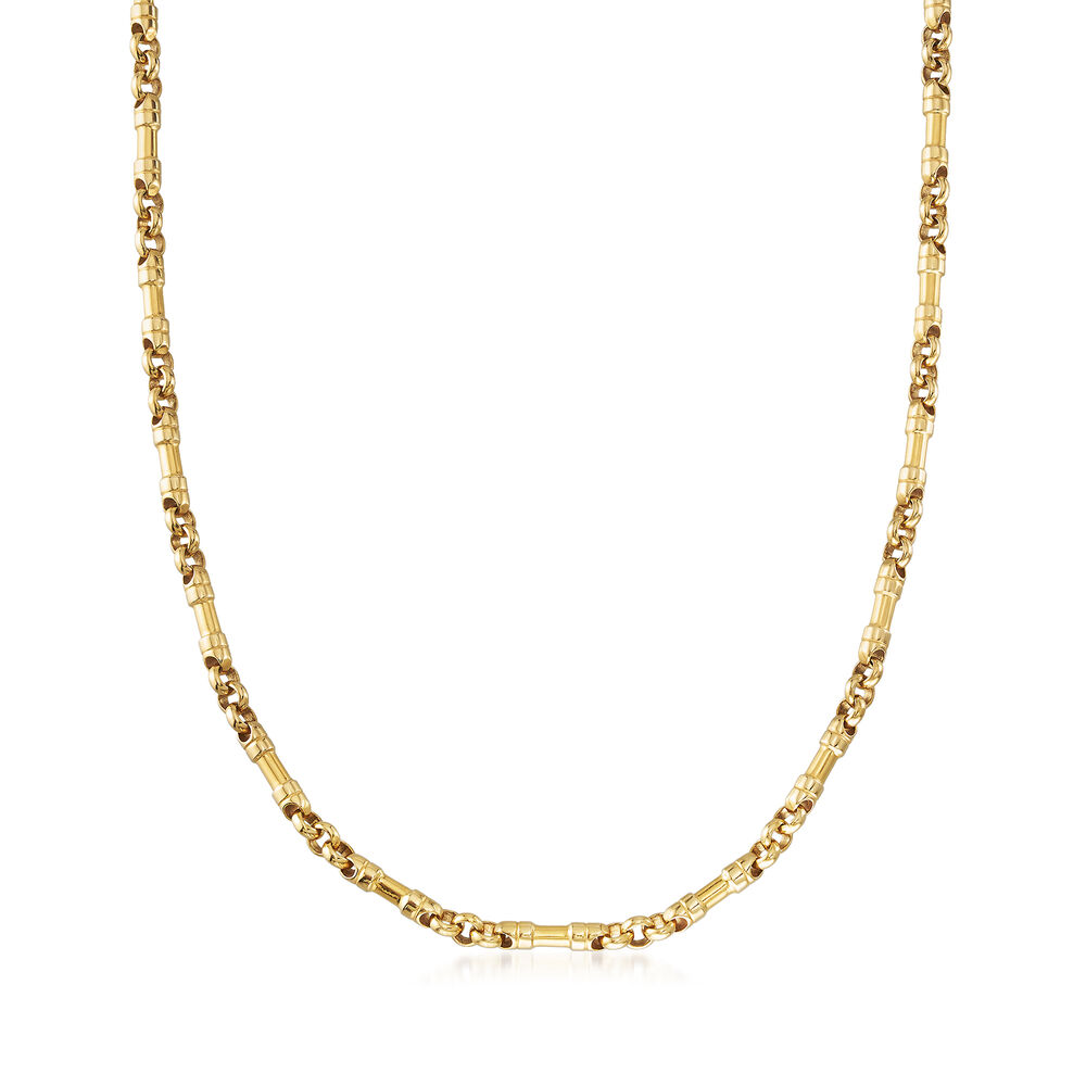 """5bbdff84b C. 1980 Vintage Tiffany Jewelry 18kt Yellow Gold Link Chain Necklace.  18.5"""","""