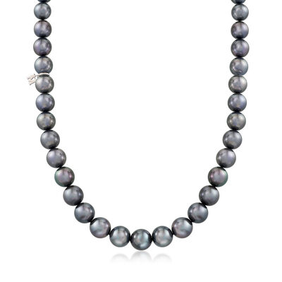 Mikimoto 8.2-10.9mm A+ South Sea Pearl Necklace with Diamond Accent and 18kt White Gold