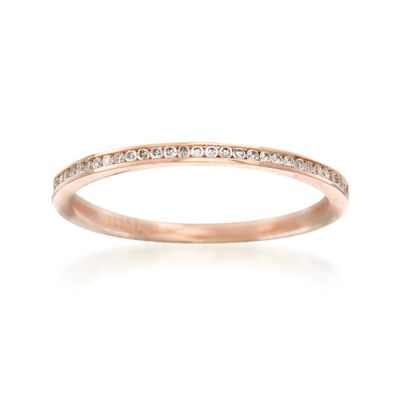 Henri Daussi .10 ct. t.w. Diamond Wedding Ring in 14kt Rose Gold, , default