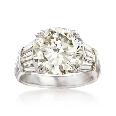 Majestic Collection 6.73 ct. t.w. Diamond Ring in 18kt White Gold, , default