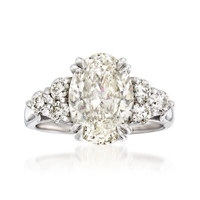 Majestic Collection 4.25 ct. t.w. Diamond Ring in 18kt White Gold