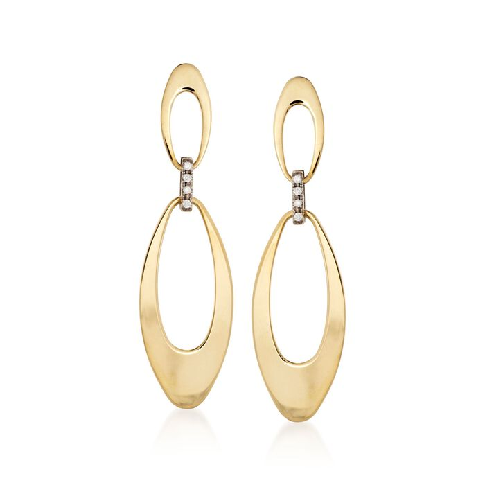 Roberto Coin Chic & Shine Diamond Drops in 18-Karat Two-Tone Gold, , default