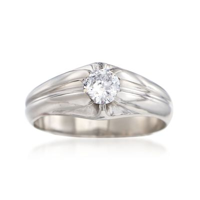 C. 1960 Vintage .50 Carat Diamond Ring in Palladium, , default