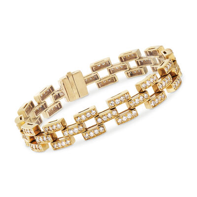 C. 1980 Vintage 5.00 ct. t.w. Diamond Link Bracelet in 18kt Yellow Gold