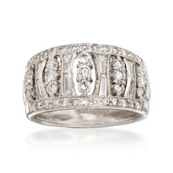 C. 1990 Vintage 1.25 ct. t.w. Diamond Ring in 14kt White Gold, , default