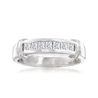 C. 1990 Vintage .50 ct. t.w. Diamond Ring in 14kt White Gold