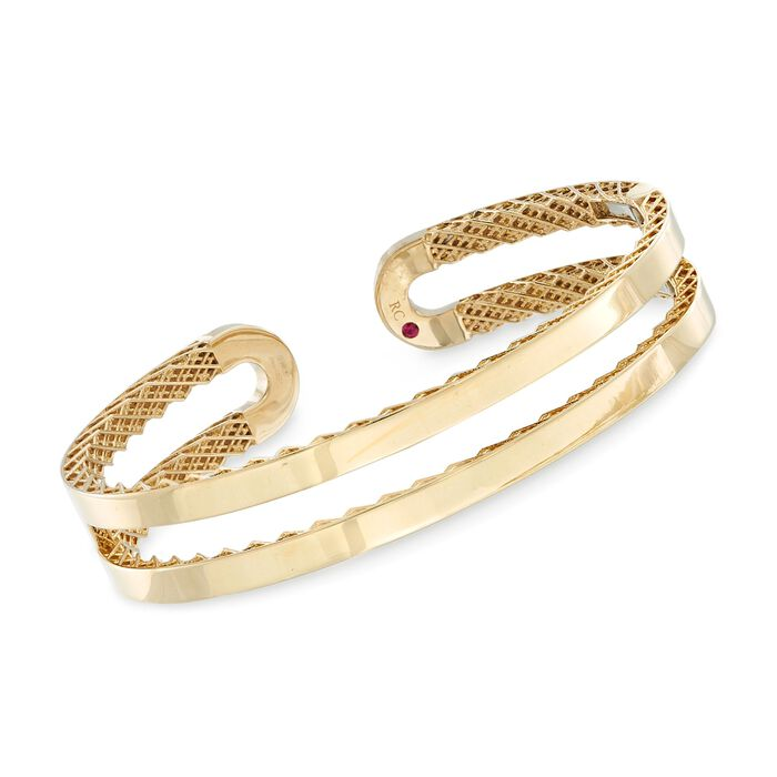 """Roberto Coin """"Symphony"""" 18kt Yellow Gold Double Cuff Bracelet"""