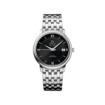 Omega De Ville Prestige 36.8mm Men's Automatic Stainless Steel Watch - Black Dial, , default