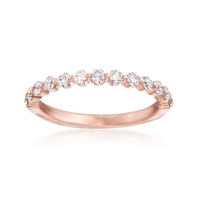 Henri Daussi .50 ct. t.w. Diamond Wedding Ring in 18kt Rose Gold