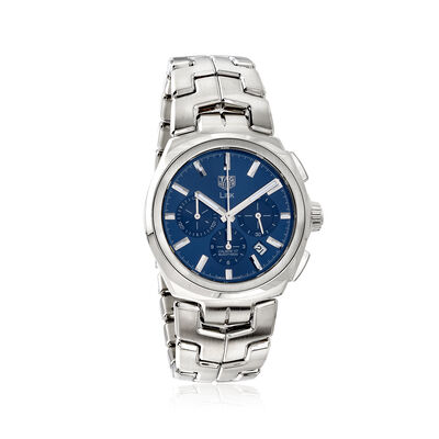 TAG Heuer Link Men's 42mm Auto Chronograph Stainless Steel Watch - Blue Dial