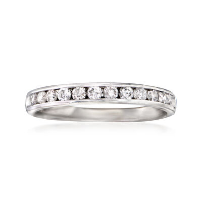 C. 1990 Vintage .60 ct. t.w. Channel-Set Diamond Ring in 14kt White Gold