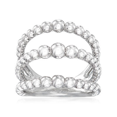 Gabriel Designs Sterling Silver Open-Row Ring