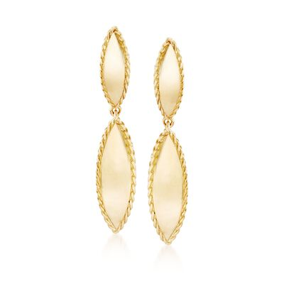 "Roberto Coin ""Gourmette"" 18kt Yellow Gold Drop Earrings, , default"