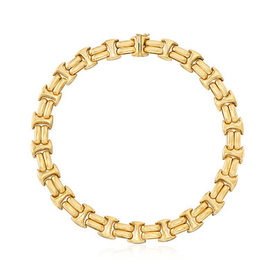 C. 1990 Vintage 14kt Yellow Gold Collar Necklace, , default