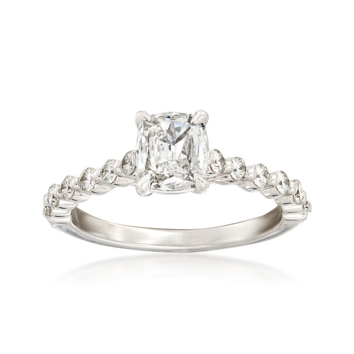 Henri Daussi 1.04 ct. t.w. Diamond Engagement Ring in 18kt White Gold