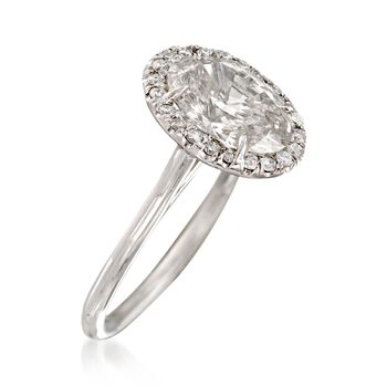 Majestic Collection 2.74 ct. t.w. Oval Diamond Ring in 18kt White Gold, , default