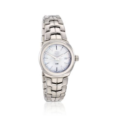 TAG Heuer Link Women's 32mm Stainless Steel Watch with Mother-Of-Pearl Dial, , default