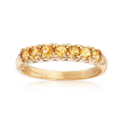 C. 1990 Vintage .55 ct. t.w. Citrine Ring in 10kt Yellow Gold, , default